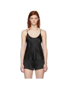 black-silk-satin-camisole by la-perla