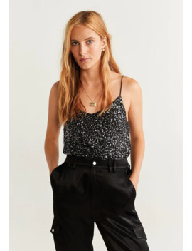 Sequin   Toppe by Mango
