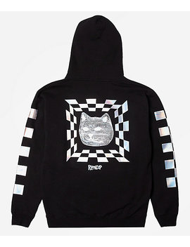 ripndip-illusion-black-reflective-hoodie by zumiez