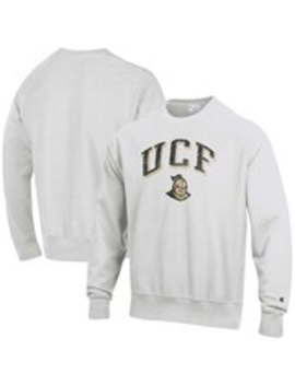 ucf-knights-champion-arch-over-logo-reverse-weave-pullover-sweatshirt---gray by champion
