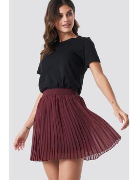 mini-pleated-skirt-czerwony by na-kd