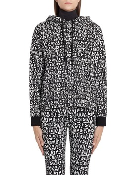 logo-jacquard-hooded-sweater by moncler