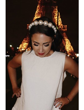 Lorna Luxe Premium White Oversized Faux Pearl Headband by In The Style