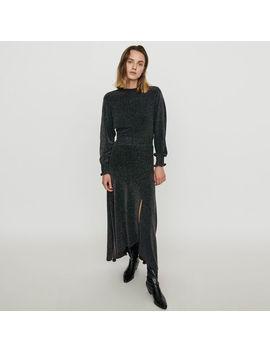 stretchscarf-dress-in-lurex by maje