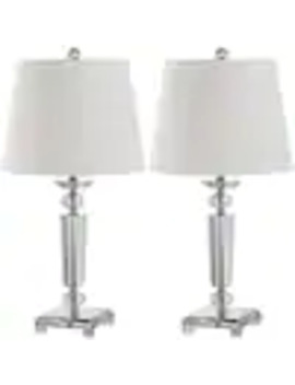 Safavieh Imogene 2 Piece Standard Lamp Set With Off White Shades by Lowe's