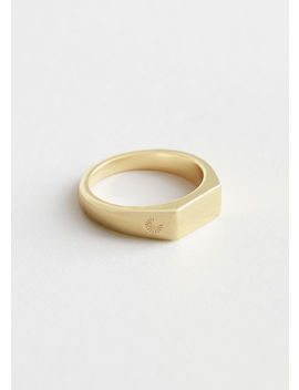 Engraved Signet Ring by & Other Stories