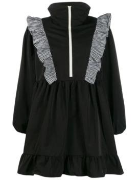 zip-through-ruffle-dress by sandy-liang