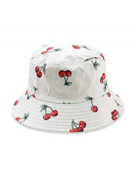 Fruit Pattern Bucket Hat   White by Zaful