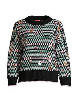 embellished-fair-isle-sweater by kate-spade-new-york