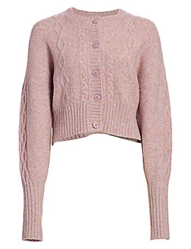 joki-cable-knit-cropped-cardigan-sweater by munthe