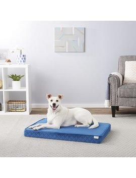 Frisco Ortho Quilted Solid Memory Foam Lounger Pet Bed by Frisco