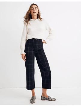 slim-emmett-wide-leg-crop-pants-in-space-dyed-windowpane by madewell