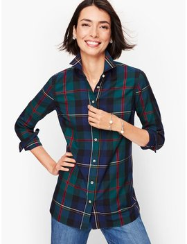 classic-cotton-shirt---india-ink-plaid by talbots