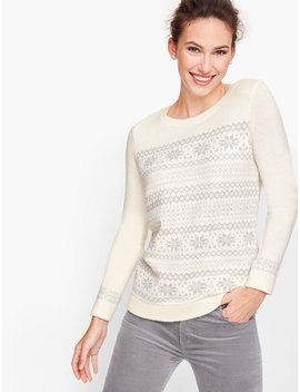 Sparkle Fair Isle Sweater by Talbots