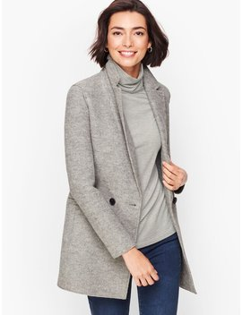 Long Boiled Wool Jacket by Talbots