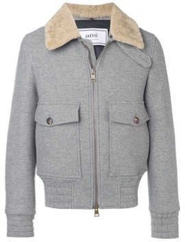 shearling-trimmed-aviator-jacket by ami-paris