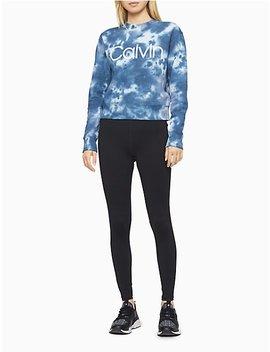 Performance Tie Dye Mock Neck Sweatshirt by Calvin Klein