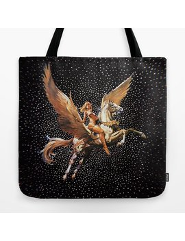 knight-of-the-goddess-tote-bag by society6