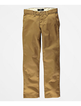 vans-boys-authentic-dirt-stretch-chino-pants by zumiez