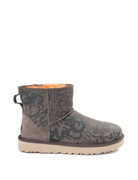 Womens Ugg® Classic Mini Ii Graffiti Boot   Slate by Ugg