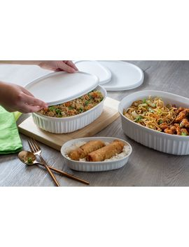 corningware-french-white-round-&-oval-baking-casserole-set,-8-piece by corningware