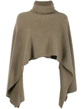 asymmetric-hem-roll-neck-poncho by pringle-of-scotland