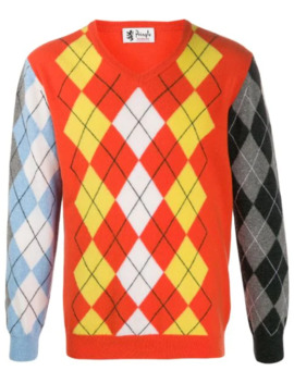 reissued-patchwork-argyle-jumper by pringle-of-scotland