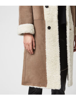 Tia Reversible Shearling Coat by Allsaints