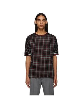 black-tattersal-check-t-shirt by paul-smith