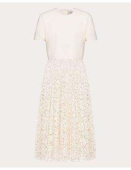 Plisseekleid Aus CrÊpe Couture Und Heavy Lace by Valentino