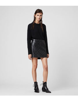 Lyra Leather Star Skirt by Allsaints