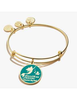 Disney Princess® Ariel The Little Mermaid Follow Your Dreams Charm Bangle Shiny Gold by Alex And Ani