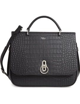 amberley-croc-embossed-leather-satchel by mulberry