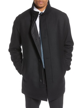 camron-regular-fit-wool-blend-coat by boss
