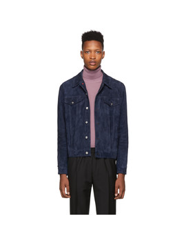 indigo-suede-trucker-jacket by paul-smith