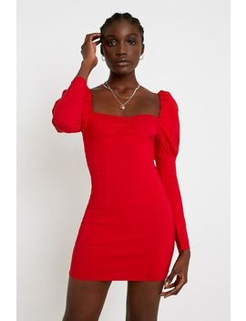 uo-elisa-bengaline-mini-red-dress by urban-outfitters