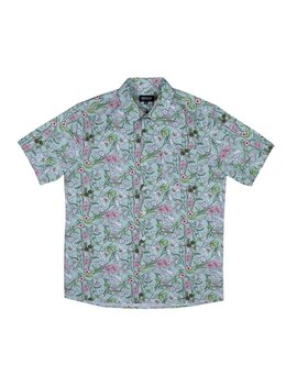Nermal Floral S/S Button Up (Aqua) by Ripndip