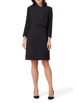 sheath-dress-&-cropped-jacket by tahari
