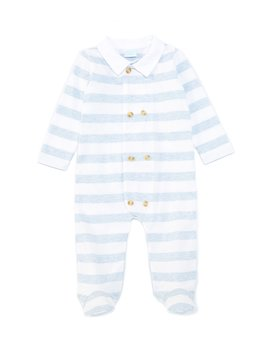 baby-boys-preemie-6-months-heather-stripe-footed-coverall by edgehill-collection