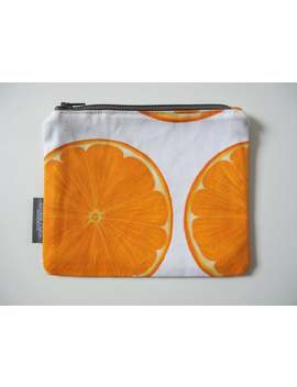 orange-slice,-zip-pouch,-coin-purse,-jewellery-pouch,-handbag-organiser,-cotton,-handmade,-small-purse,-purse-with-zip,-pocket-money-pouch by etsy