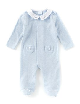 baby-boys-preemie-6-months-long-sleeve-embroidered-footed-coverall by edgehill-collection