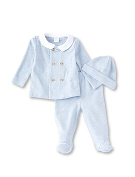 baby-boys-newborn-6-months-long-sleeve-top,-footed-pant,-&-hat-set by edgehill-collection