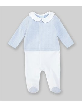 baby-boys-newborn-6-months-herringbone-footed-coverall by edgehill-collection