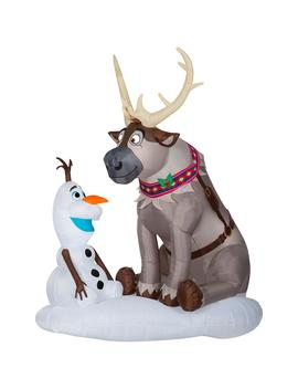 7-ft-pre-lit-inflatable-airblown-olaf-and-sven-scene by disney
