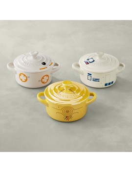 le-creuset-stoneware-mini-round-cocotte,-star-wars-droids,-set-of-3 by williams---sonoma