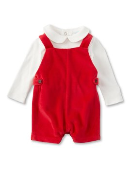 baby-boys-newborn-9-months-long-sleeve-collared-shirt-&-overall-set by edgehill-collection
