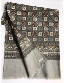 mens-vintage-scarf-pure-wool-patterned-60's-necktie-cravat-retro-paisley by ebay-seller