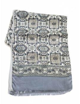 mens-silk-scarf-necktie-100%-silk-cravat-italy-vintage-scarf-pristine by ebay-seller