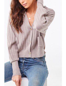 ribbed-buttoned-cardigan by forever-21