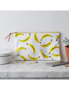 sale!-screen-printed-bananas-yellow-fruit-leather-clutch-purse-bag-handbag by etsy